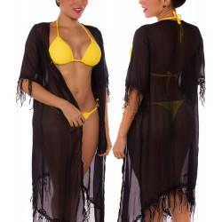 Salida de Vestido de Baño PRAIE REF: 1221 Kimono Flecos Largo
