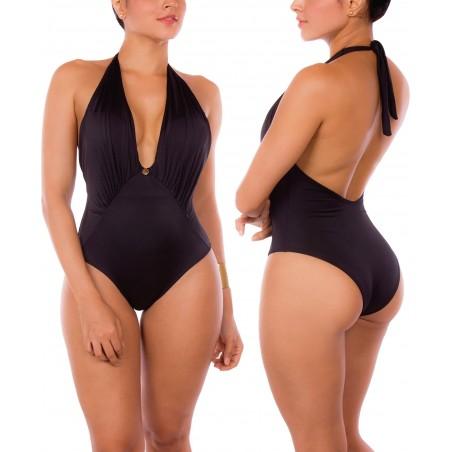 Vestido de Baño Enterizo PRAIE REF: 2118 Prestigio Escote V