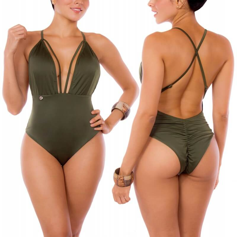 PRAIE One piece Swimsuit REF: 2108 Militar