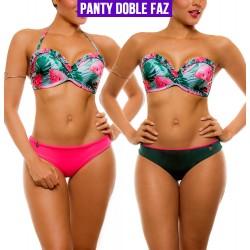 Vestido de Baño Bikini PRAIE REF: 2105 Hawaii *Panty Doble Faz