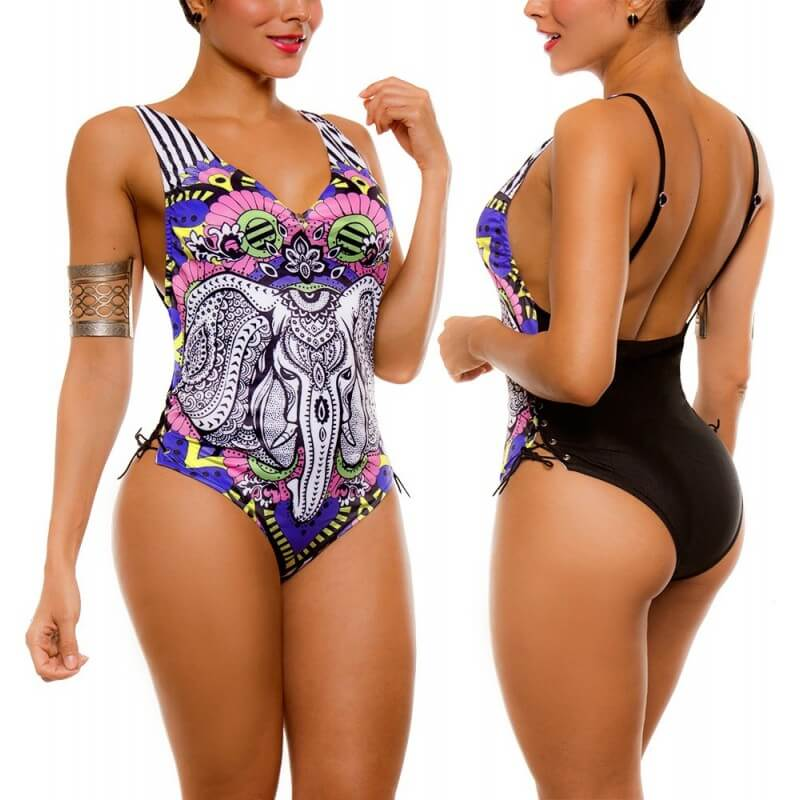 PRAIE One piece Swimsuit REF: 2104 Oriental *Tummy Control
