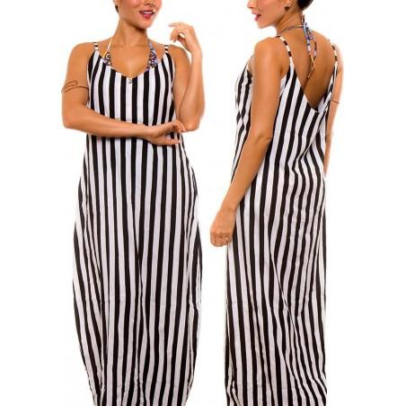 PRAIE Beachwear REF: 2103 Vestido Rayas Largo