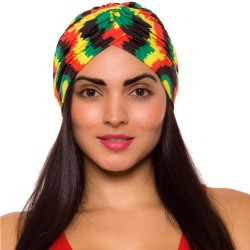 PRAIE Turban REF: TB004A Cortes Rasta Swim cap Hair Band Bows