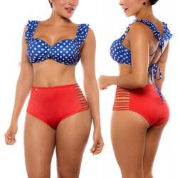 Vestido de Baño Bikini RETRO PRAIE REF: 1941 Puntos Sesgos