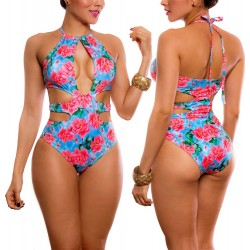 Vestido de Baño Enterizo PRAIE REF: 1644 Pasarela Flores Trikini
