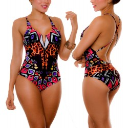 PRAIE One piece Swimsuit REF: 1919 GeoAnimal *Tummy Control