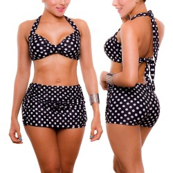 PRAIE High Waist Bikini REF: 1727 Skirt Short Dots