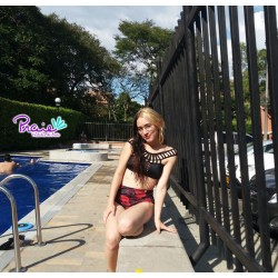 Panty Alto de Vestido de Baño PRAIE REF: 1631B Retro Mágico