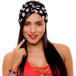 PRAIE Turban REF: TB001C Bolas Hair Band Bows Accessory Lycra