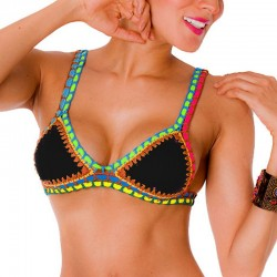PRAIE Swimsuit Top REF: 1403A1 Neopreno Crochet *DUAL PURPOSE