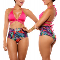 PRAIE High Waisted Swim Bottom REF: 1511B1 Retro Pericos