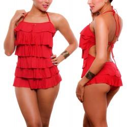 Vestidos De Baño Enterizos Boleros Copa Trajes Praie 9018