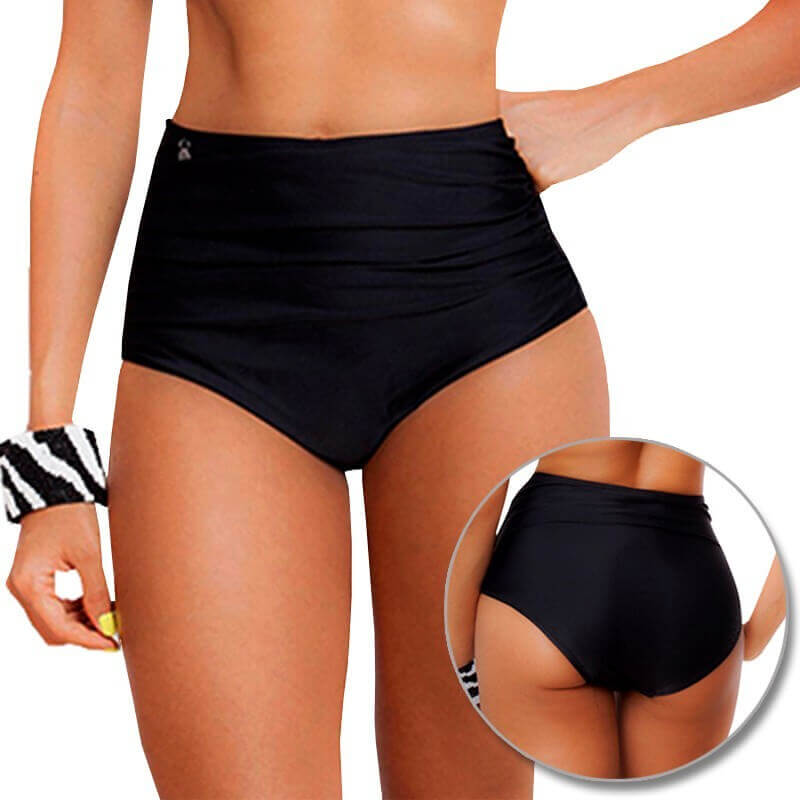 PRAIE High Waisted Swim Bottom REF: 8011B Retro Recogido *Tummy