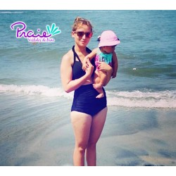 PRAIE High Waisted Swim Bottom REF: 1113B Retro Class *Tummy