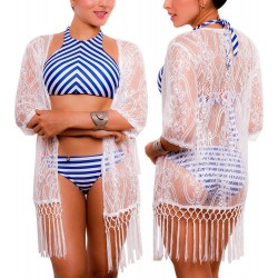 PRAIE Beachwear REF: 1737 Kimono Encaje