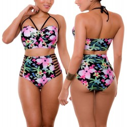 Vestido de Baño Bikini RETRO PRAIE REF: 1803 Florido
