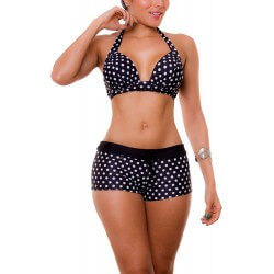 Vestido de Baño Bikini Cachetero PRAIE REF: 1601A Puntos