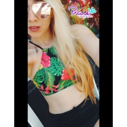 PRAIE Swimsuit Top REF: 1621 Halter Flores