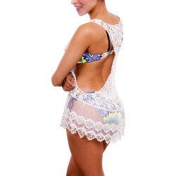 PRAIE Beachwear REF: 1023 Blouse Mesh Woven Short Dress