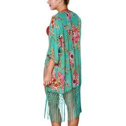 PRAIE Beachwear REF: 1224 Kimono Flores Cardigan