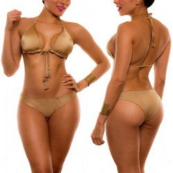 PRAIE Bikini Swimsuit REF: 1432 Bronzer *3 Pieces Reversibles