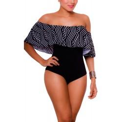 PRAIE One piece Swimsuit REF: 1641A Bardot Radiante *Tummy