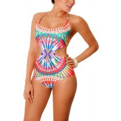 Vestido de Baño Enterizo PRAIE REF: 1135 Geométrico *Control