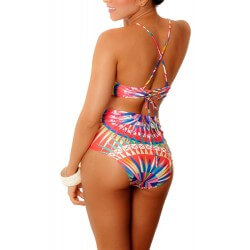 PRAIE One piece Swimsuit REF: 1135 Geometrico *Tummy Control