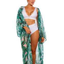 Salida de Baño Pareo PRAIE REF: 2220 Kimono Hojas