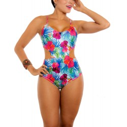 PRAIE One piece Swimsuit REF: 1135 Flores *Tummy Control