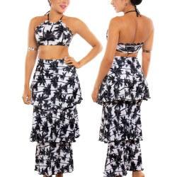 PRAIE Beachwear REF: 1510 Print Skirt Boleros Palms