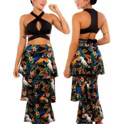 PRAIE Beachwear REF: 1510 Print Skirt Cockatoos Boleros