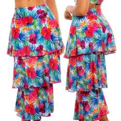 PRAIE Beachwear REF: 1510 Print Skirt Flowers Boleros