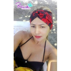 PRAIE Turban REF: TB001F Rosas Hair Band Bows Accessory Lycra