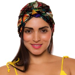 PRAIE Turban REF: TB003A Cacatúas Swim cap Hair Band Bows