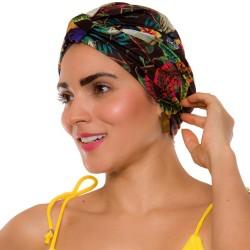 PRAIE Turban REF: TB003A Cacatúas Swim cap Hair Band Bows