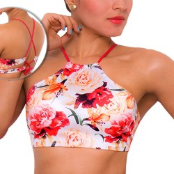 PRAIE Swimsuit Top REF: 1621A Halter Flores