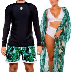PRAIE Beachwear REF: 2220 Kimono Hojas