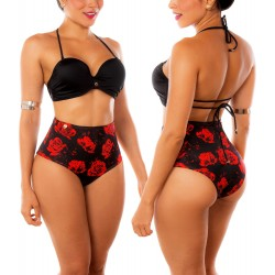 PRAIE High Waisted Swim Bottom REF: 1631B Retro Mágico