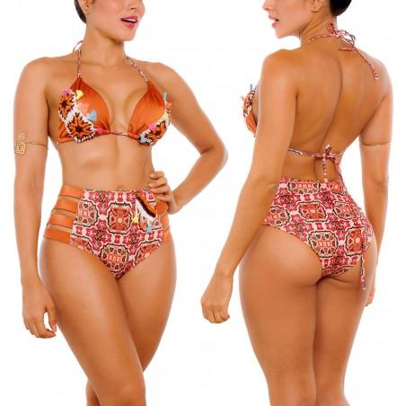 Vestido de Baño Bikini RETRO PRAIE REF: 2302 Ocre Artesanal