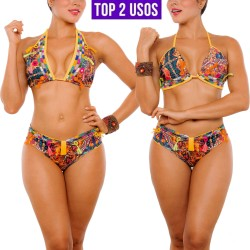 Vestido de Baño Bikini PRAIE REF: 2304 Bordado Hecho a Mano