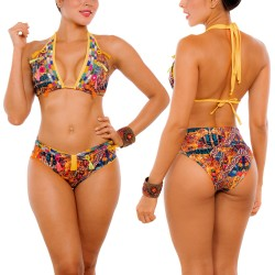 PRAIE Bikini Swimsuit REF: 2304 Embroidery Handmade