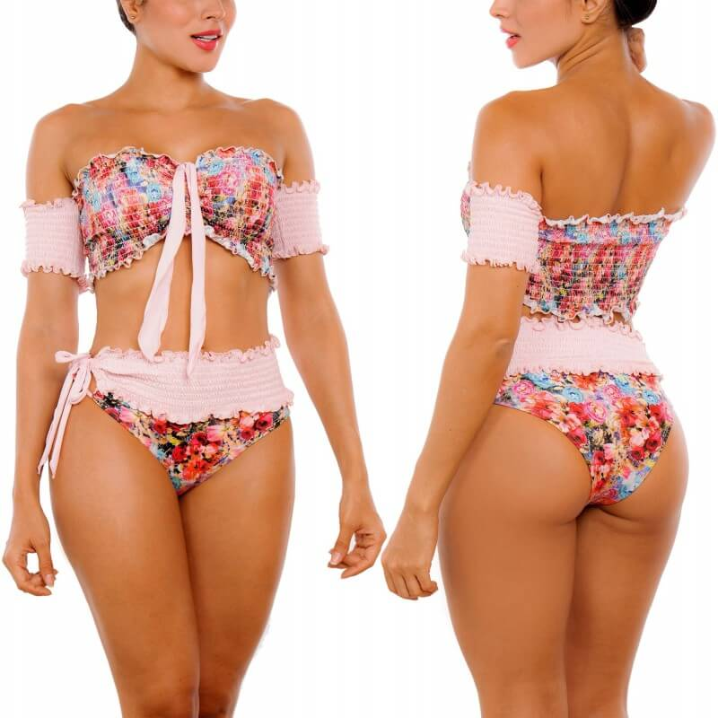 PRAIE High Waist Bikini REF: 2305 Dulce Rose Dual Purpose