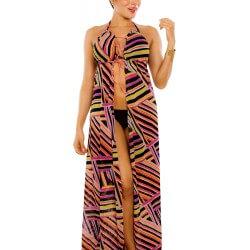 PRAIE Beachwear REF: 2310 Vestido Rayas Largo