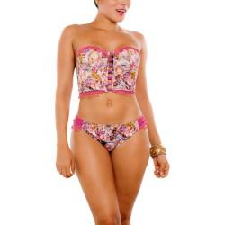 PRAIE Bikini Swimsuit REF: 2309 Bustier Strapless