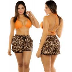 PRAIE Beachwear REF: 2200 Animal Print Short
