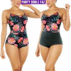 PRAIE High Waist Bikini REF: 2301 Flowers *Tummy Control *Dual