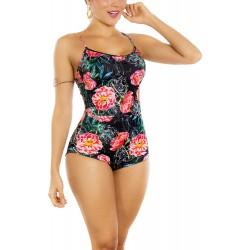 Vestido De baño Bikini Retro Praie Ref 2301 Flores Control