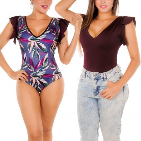 Body Vestido de Baño Doble Faz PRAIE REF: B008 Control Abdomen