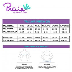 PRAIE Swimsuit Bottom REF: 2126B Brasilera Bronceo Adjustable